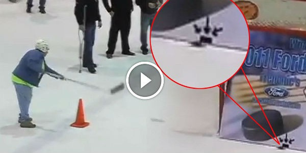 YOU CAN ONLY DREAM OF HAVING HER SKILLS: Granny Does A TOTALLY UNBELIEVABLE HOCKEY SHOT To Win A New Truck!!!