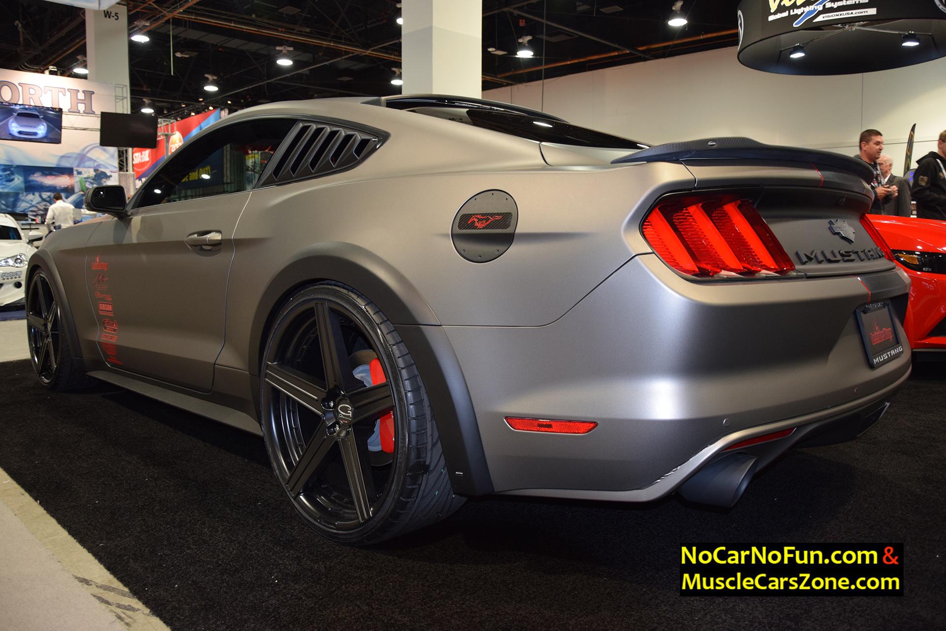 custom ford mustang gt 5 0 defenderworx 2015 sema motor show 5 no car no fun muscle cars. Black Bedroom Furniture Sets. Home Design Ideas