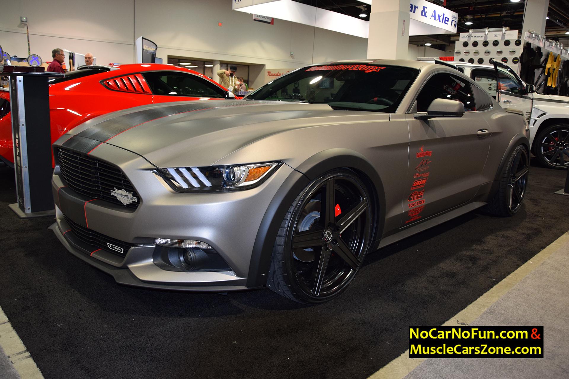 custom ford mustang gt  defenderworx  sema motor show   car  fun muscle cars