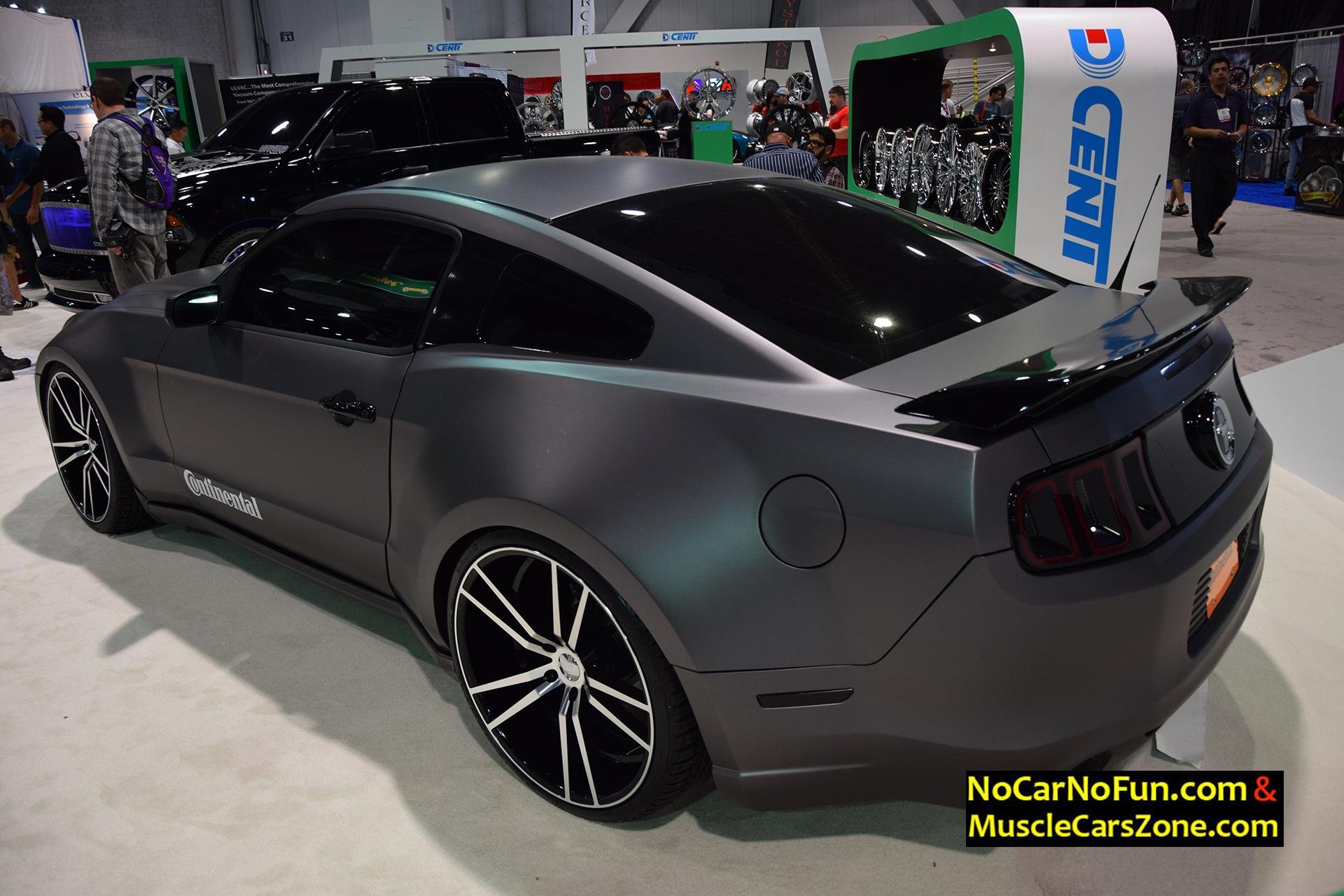 Ford Mustang Dark Gray Wrapped 2015 Sema Motor Show 4