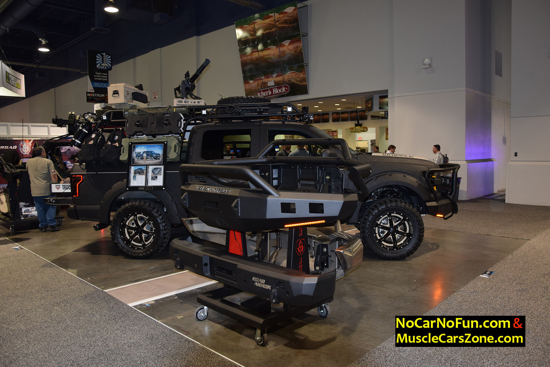 Ford Road Armor Truck With Machine Gun On Top 2015 Sema