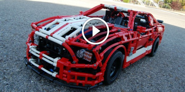 Made Especially For Young Muscle Car Fans (AND THEIR DADS): FULL REMOTE CONTROLLED LEGO Ford Mustang Shelby GT500 By Sheepo!!!