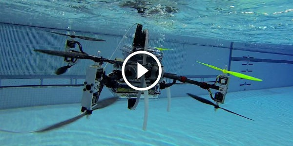 "PART SUBMARINE, PART AIRCRAFT: Rutgers University Researchers Have Developed A Drone That Flies AND Swims. SEE THE ""NAVIATOR"" DRONE IN ACTION!!!"