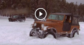 Jeep vs Hummer Snow Run