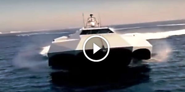 ONE OF THE FASTEST SHIPS IN THE WORLD: M80 Stiletto Prototype Naval Stealth Ship Owned By The US Navy Has Pentamaran Hull Design And Carbon Fiber Construction!!!