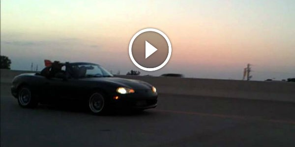 600rwhp Mazda Miata With LS Engine And A Vicious Turbo IN SEARCH FOR A VICTIM: See This Black Lady MURDERING A Poor BMW!!!