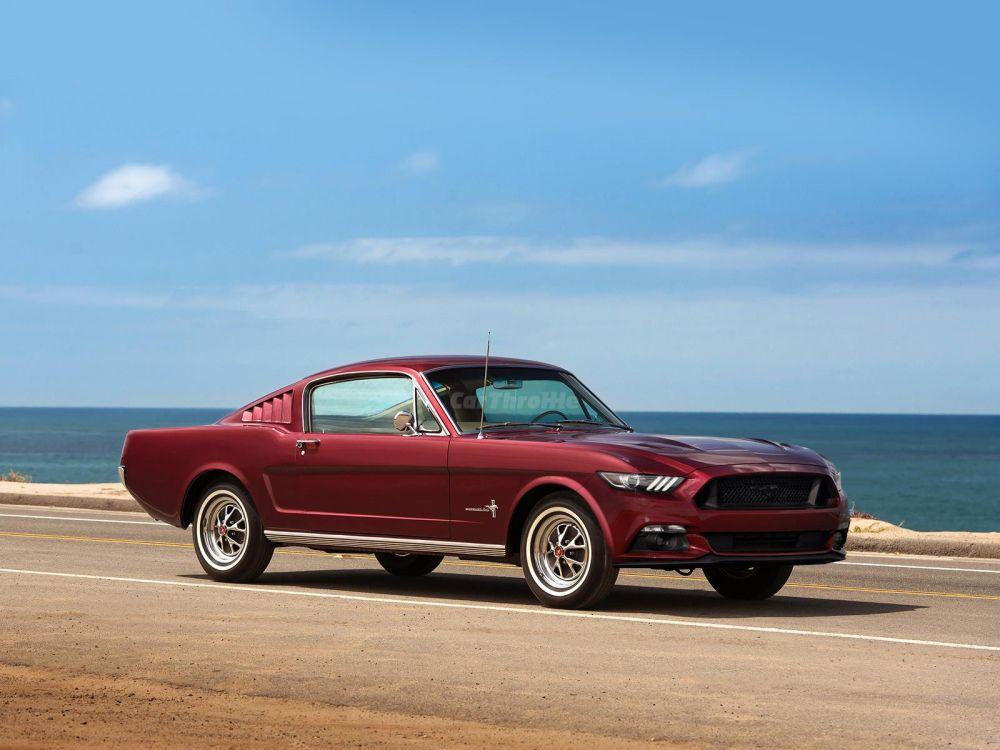 Ford Mustang first-gen sixth-gen front three quarters - NO Car NO ...