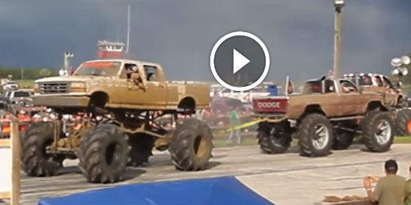 Ford Vs Dodge Truck Pull At Redneck Yacht Club on 01 Dodge Ram Drift Truck