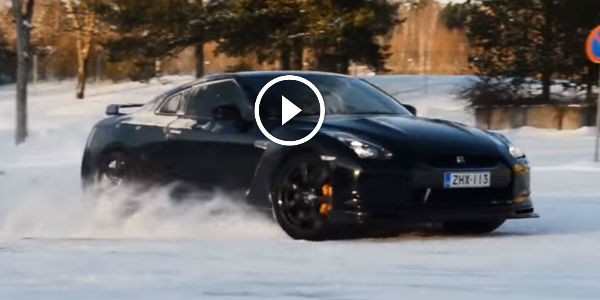 Equus Muscle Car >> Godzilla Is Just Too Happy To PLAY WITH THE SNOW! Enjoy This Sweet NISSAN GTR SNOW DRIFTING FUN ...