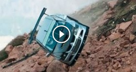RACE CAR GOES OVER CLIFF - 3 ANGLES AMAZING CRASH! - UPDATE