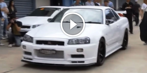 White Nissan Skyline Gtr R34 From Hell Sounds Amazing I