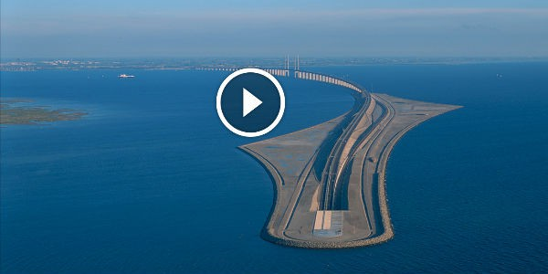 SCANDINAVIAN ARCHITECTURAL MASTERPIECE: The Oresund BRIDGE & UNDERWATER TUNNEL Not Only Links Sweden And Denmark But Also Western And Central Europe!!!