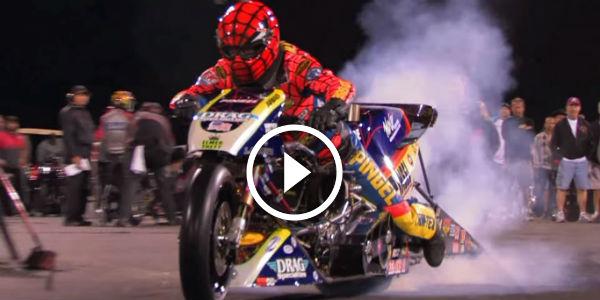 "2015 Dodge Magnum >> AMAZING TOP FUEL MOTORCYCLE Import VS. Harley Drag Racing: LARRY ""SPIDERMAN"" MACBRIDE Runs 5 ..."