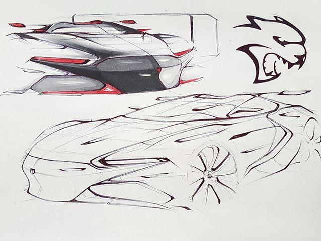 Dodge Srt Hellcat Concept Design Sketch on Dodge Magnum Hellcat