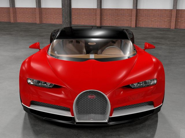 Bugatti Chiron rendering front end red version - NO Car NO ...