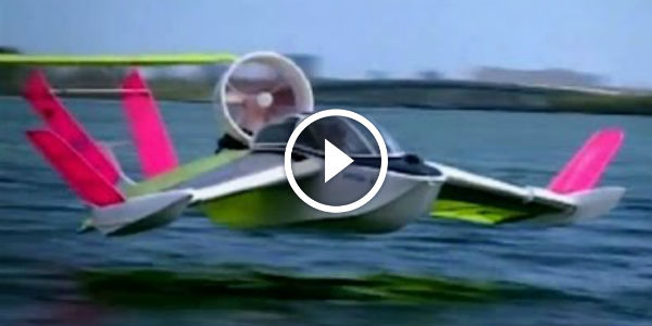 Flying Hovercraft Air Fish Powered By 70 Hp Bike Engine