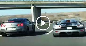 Koenigsegg CCX vs Nissan gtr R35 rolling in turkey