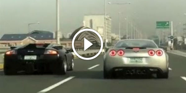 Corvette C6 Z06 Teaches The Italian Bull A GOOD LESSON IN STREET RACING!!! Sometimes, YOU JUST CAN'T MESS WITH AMERICAN MUSCLE!!!