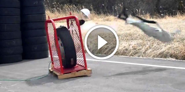 Tire Explosion Is The Result Of Overinflating Shocking