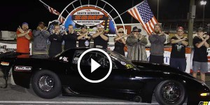 Twin Turbo Corvette Pro Line Small Block com FT500 vence o Lights OUT 7!