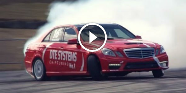 Mercedes Benz E63 Amg Drifting Its Rear End Off After