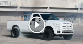 700 horsepower Ford single cab diesel burning out! #SalinasPhotgraphy