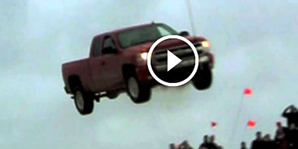 Lake Geneva Ford >> INSANE TRUCK JUMP By A Brand New Chevrolet Silverado! He Probably Just Confused His New Stock ...