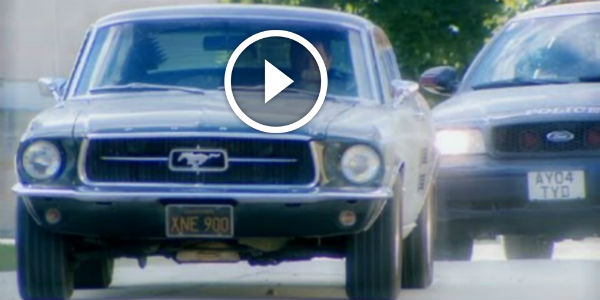 1967 Mustang Gt Nailed By A Ford Crown Victoria Police Car Mike Brewer Tries To Evade Edd China