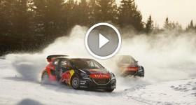 World Rallycross on Ice Sebastien Loeb Takes On a New Racing Challenge