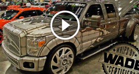 SE Car Truck & Bike Show Caddys Customs Dually on 26'' Forgiato Wheels -