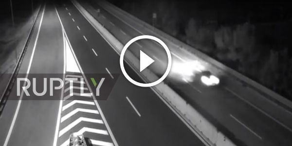 Surveillance Cameras Showed THE DEVASTATING POWER Of The Earthquake In Italy! Bridge Shook WITH CARS ON IT!