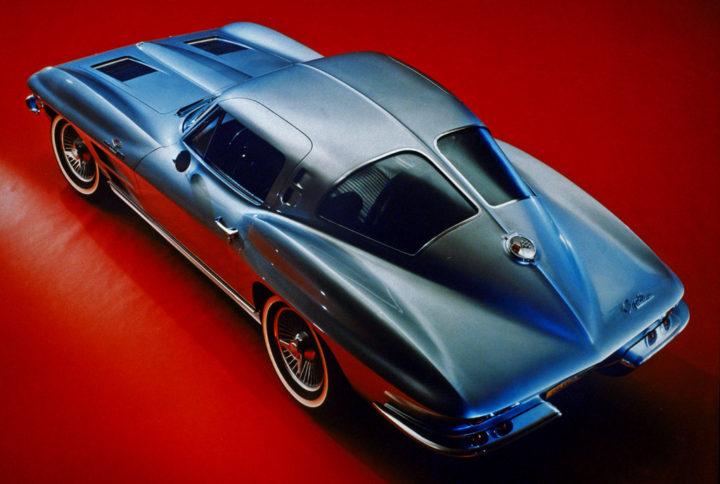 1963 C2 Corvette Stingray Rear Three Quarters Top View