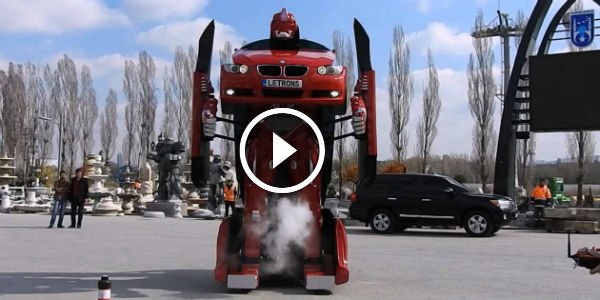 Behold THE FIRST REAL TRANSFORMER Based On A BMW! Thanks To Turkish Company Letrons, Transformers REALLY DO EXIST NOW!
