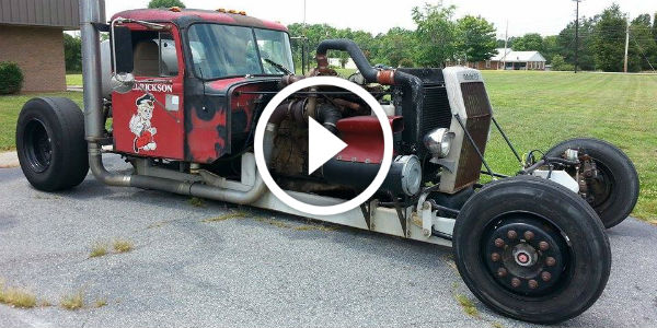 How About This 1967 White 9500 TD Semi Rat Rod With 730 HP? One Of The Biggest Rat Rods Ever Seen!!!