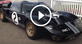 Ford GT40 Race Car Hot Lap And Loud V8 Exhaust And Engine Noise