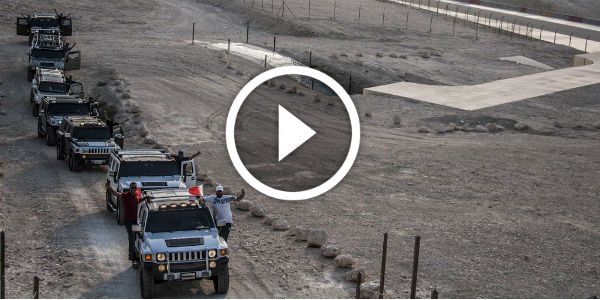 Desert Adventure With A Convoy Of Hummers!!! Check Out The Kuwait Hummer Adventurers Team BIC!!!