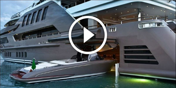 The World's First Yacht With A Built-In Garage For Boats – CRN Mega Yacht J'ade!!!