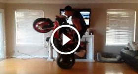 Darius Khashabi Hitting Circle Wheelies In The Living Room